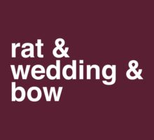 rat & wedding & bow by Mimi Robinson