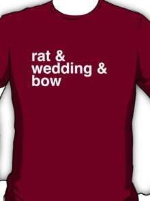 rat & wedding & bow T-Shirt