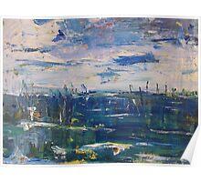 Norfolk Sunset over marshes Poster
