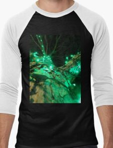 Green lights, rough bark Men's Baseball ¾ T-Shirt