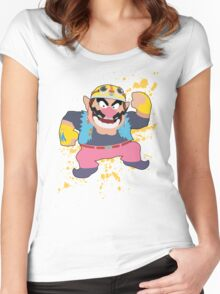 Wario - Super Smash Bros Women's Fitted Scoop T-Shirt