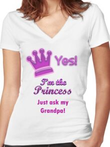 Princess shirt Women's Fitted V-Neck T-Shirt