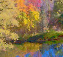 Autumn on the Pond by Don Schwartz