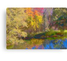 Autumn on the Pond Canvas Print