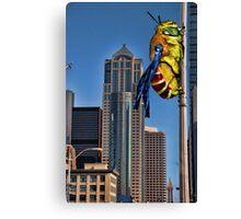 Galaga Bee Canvas Print