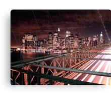 NYC: Brooklyn Nights Canvas Print