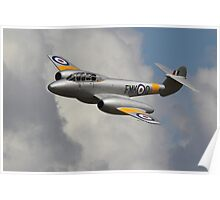 The Gloster Meteor at Wings and Wheels Poster
