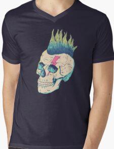 Skull Punk Mens V-Neck T-Shirt