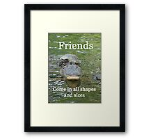 """Friends come in all shapes and sizes""  by Carter L. Shepard Framed Print"