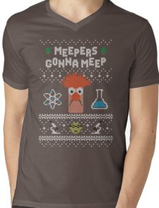 Meepers Gonna Meep - Ugly Christmas Mens V-Neck T-Shirt