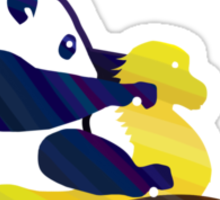 Panda ride Sticker