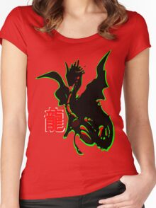 ۞»♥Legendary Dragon with a Chinese Character Clothing & Stickers♥«۞ Women's Fitted Scoop T-Shirt