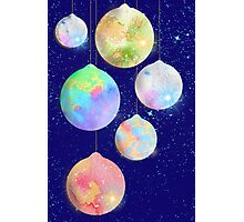 Glass Baubles for Christmas Photographic Print