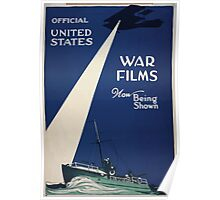 Official United States war films now being shown Poster