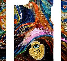 "iPhone skin 2 based on my original artwork ""Longing for Chagall"" by Elena Kotliarker"