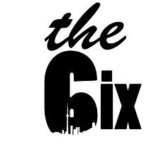 The 6ix logo (with skyline) Photographic Print