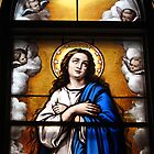 Stained glass window, Wexford Friary, Ireland by buttonpresser