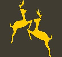 ۞»♥Golden Jumping Deer Couple Clothing & Stickers♥«۞ Womens Fitted T-Shirt