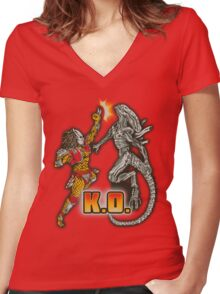 Super AvP II: Turbo Edition Women's Fitted V-Neck T-Shirt