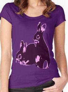 ★♥ټAdorable Pink-Black Bunnies Clothing & Stickersټ♥★ Women's Fitted Scoop T-Shirt