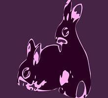 ★♥ټAdorable Pink-Black Bunnies Clothing & Stickersټ♥★ Womens Fitted T-Shirt