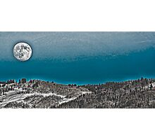 Moonrise Over the Mountains Photographic Print