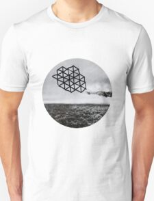 Landscape of Geometry Circular Sticker T-Shirt
