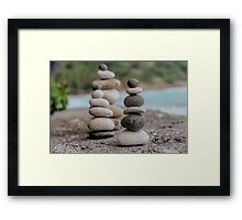 Stacked Pebbles 03 Framed Print