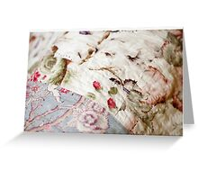 Antique quilt, UK Greeting Card