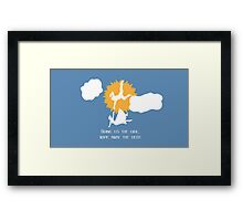 Bring us the girl, wipe away the debt Framed Print