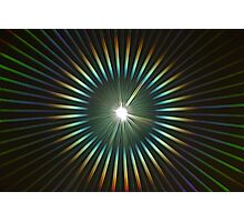 Rainbow Light Rays Photographic Print