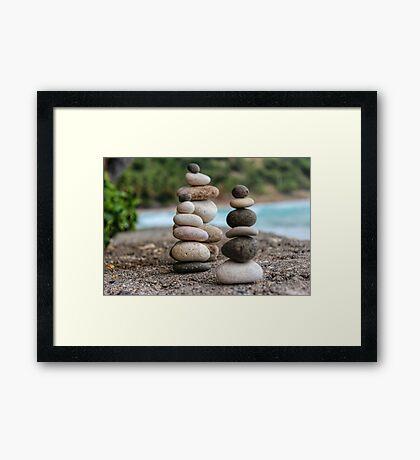 Stacked Pebbles 04 Framed Print