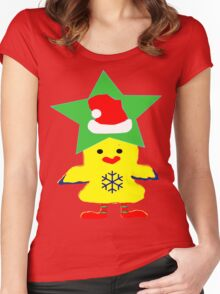 ★㋡ټHipHop Santa Chicken Fantabulous Clothing & Stickersټ㋡★ Women's Fitted Scoop T-Shirt