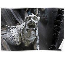gargoyle, Notre Dame, Paris Poster