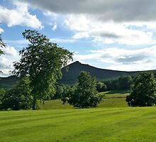 View from the Gardens of Pittodrie House  Aberdeanshire by Forfarlass
