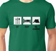 Eat Sleep Kill Campers Unisex T-Shirt