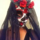 Calavera, Day of the Dead, Sugar Skull Mask by Suzi Linden