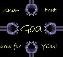 Know That God Cares For You - Sympathy Card by aprilann