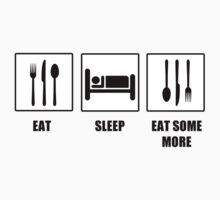 Eat Sleep Eat Some More Kids Tee