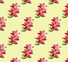 Pink Lily Pattern by haymelter