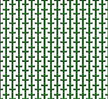 Green Cross Pattern Design by Sookiesooker