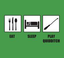 Eat Sleep Play Qudditch Kids Clothes
