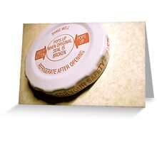 Bottle Cap Greeting Card