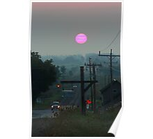 Pink Sunrise Poster