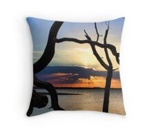 Tree Root Framing Throw Pillow