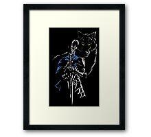 Knight & Wolf Framed Print