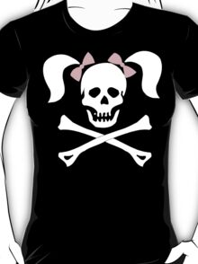 "Halloween ""Girl Sheleton With Pink Bows"" T-Shirt T-Shirt"