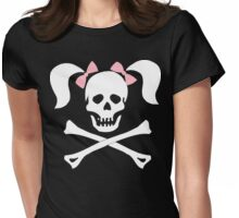 """Halloween """"Girl Sheleton With Pink Bows"""" T-Shirt Womens Fitted T-Shirt"""