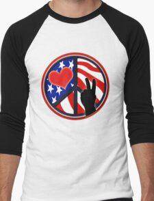 American Flag Peace Patriotic T-Shirt