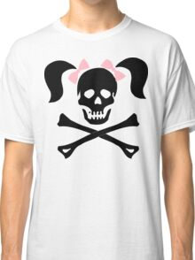 "Halloween ""Girl Skeleton With Pink Bows"" T-Shirt Classic T-Shirt"